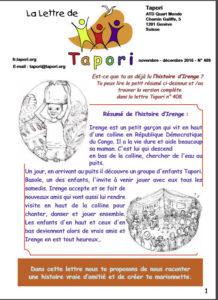 LA LETTRE DE TAPORI / éd. Fanchette Clément-Fanelli  