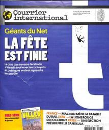 COURRIER INTERNATIONAL. 1432, 12/04/2018 |