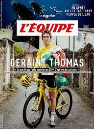 L' EQUIPE MAGAZINE. 1904, 12/01/2019 : Geraint Thomas  